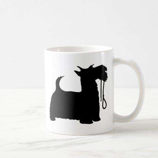 Scotty Dog and Leash Coffee Mugs