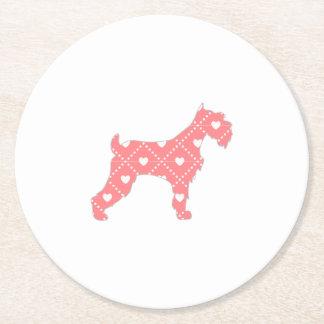 Scotty Dog Round Paper Coaster