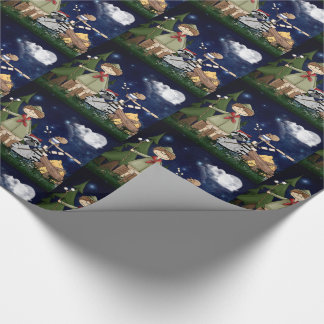 Scout Boy Cartoon Woodland Animals by the Campfire Wrapping Paper