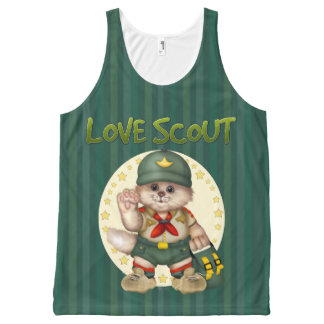 SCOUT CAT AllOver Printed Unisex Tank 2 All-Over Print Tank Top
