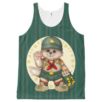 SCOUT CAT AllOver Printed Unisex Tank All-Over Print Tank Top