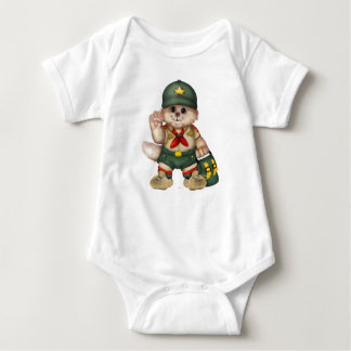 SCOUT CAT  Baby Jersey Bodysuit