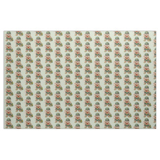 SCOUT CAT CARTOON FABRIC Size: Yard