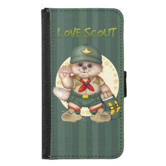 SCOUT CAT  CUTE FUN Galaxy S5 Wallet Case