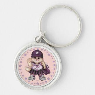SCOUT CAT GIRL CUTE Button Premium Round Keychain