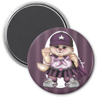 SCOUT CAT GIRL LOVE Round Magnet Standard, 3 Inch