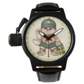 SCOUT CAT Men's Crown Protector Black Leather S Watch