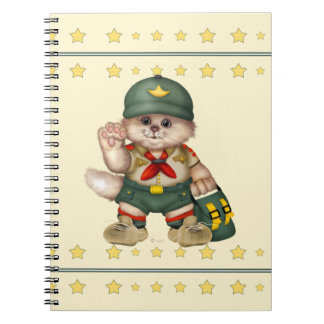 SCOUT CAT Photo Notebook (80 Pages B&W)