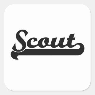Scout Classic Job Design Square Sticker
