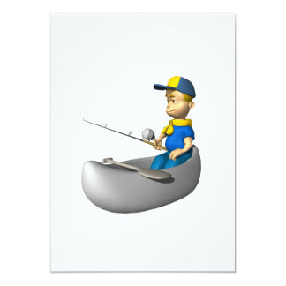 Scout Fishing 13 Cm X 18 Cm Invitation Card