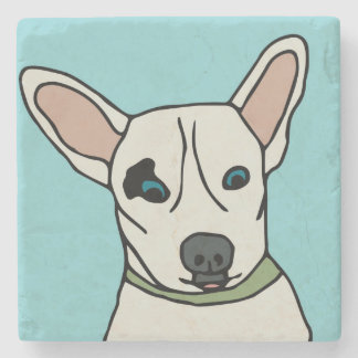 Scout the Rescue Dog Cartoon Stone Beverage Coaster