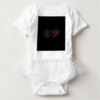 SCP19 white shadow black background Baby Bodysuit