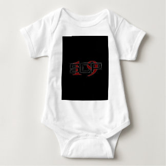 SCP19 white shadow black background Baby Bodysuit