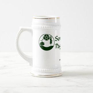 SCPN Logo - White & Silver Beer Stein Beer Steins