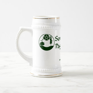 SCPN Logo - White & Silver Beer Stein 18 Oz Beer Stein