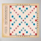 Scrabble Vintage Gameboard Poster