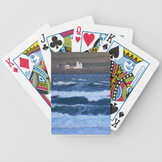 Scrabster Lighthouse near Thurso, Scotland Bicycle Playing Cards