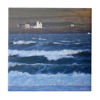 Scrabster Lighthouse near Thurso, Scotland Ceramic Tile