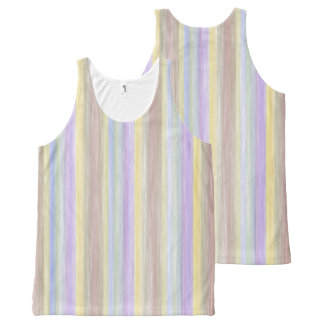 scrap book pastel colours style design All-Over print singlet