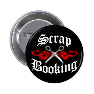Scrap Booking Tattoo 6 Cm Round Badge