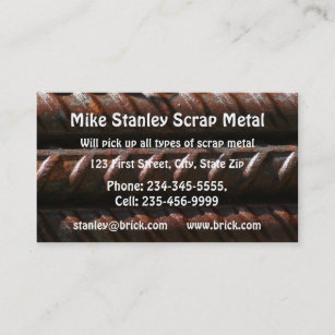 Metal recycling business cards zazzle au scrap metal recycle collection custom business business card reheart Choice Image