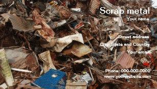 Metal recycling business cards zazzle au scrap metal recycling business card reheart Choice Image