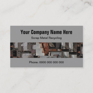 Metal recycling business cards zazzle au scrap metal recycling business cards reheart Choice Image