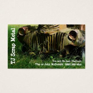 Scrap Metal Recycling & Garbage Pickup Business Card