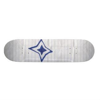 Scrap paper skate board deck