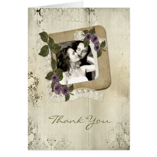 Scrap Style Photo Template Greeting Card