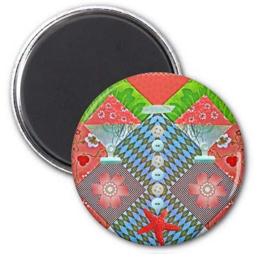 Scrapbook Delight Paper Buttons Gifts for Crafters Fridge Magnets