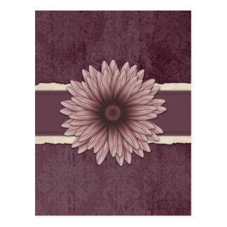 Scrapbook Style Raffia Natural Flower Postcard