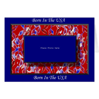 Scrapbooking  Born In The USA Greeting Card
