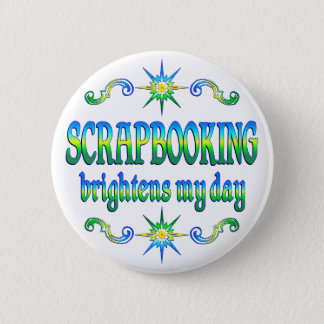 Scrapbooking Brightens 6 Cm Round Badge