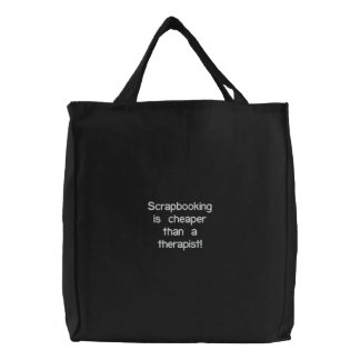 Scrapbooking is cheaper.... embroidered bag