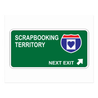 Scrapbooking Next Exit Postcard