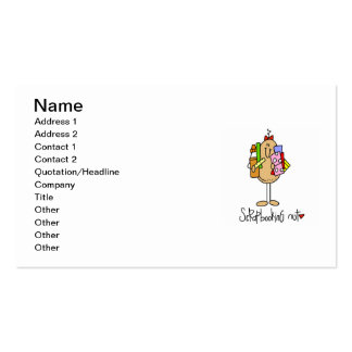 Scrapbooking Nut T-shirts and Gifts Business Card