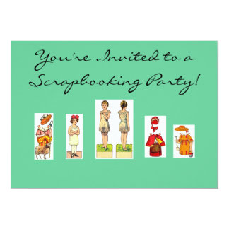 Scrapbooking Party Invitations