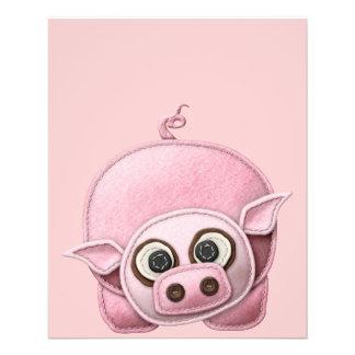 SCRAPBOOKING PINK PIG PIGGIE PIGLET CUTE CARTOON F CUSTOM FLYER
