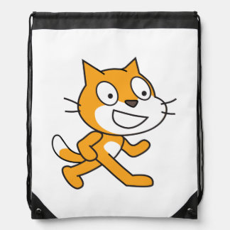 Scratch Cat Drawstring Backpack