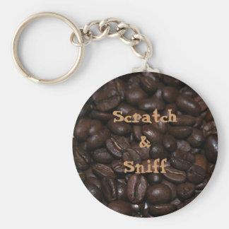 Scratch & Sniff Coffee Keychain