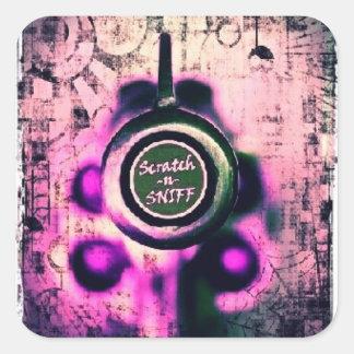 Scratch & Sniff Square Sticker