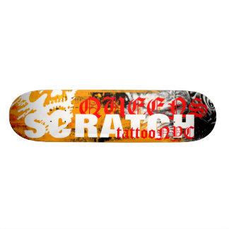 SCRATCH STICKER, QUEENS, SCRATCH, tattooNYC Custom Skateboard