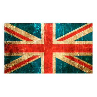 Scratched and Worn Vintage British Flag Business Card
