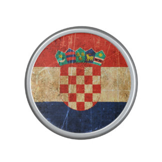 Scratched and Worn Vintage Croatian Flag Speaker