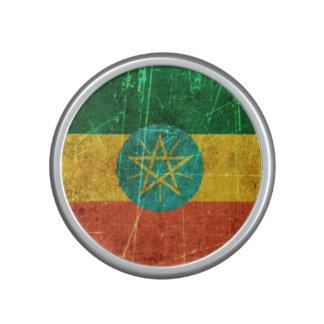 Scratched and Worn Vintage Ethiopian Flag Bluetooth Speaker