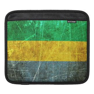 Scratched and Worn Vintage Gabon Flag iPad Sleeve