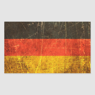Scratched and Worn Vintage German Flag Stickers