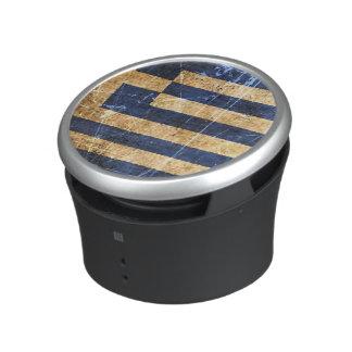 Scratched and Worn Vintage Greek Flag Bluetooth Speaker