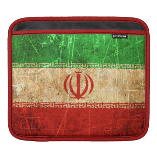 Scratched and Worn Vintage Iranian Flag Sleeves For iPads